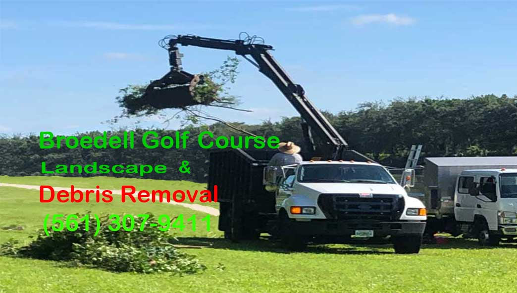 Broedell Golf Course, Landscaping and Yard Debris removal truck with staff