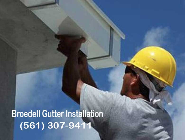 Gutter Cleaning and Installations man at clients business.
